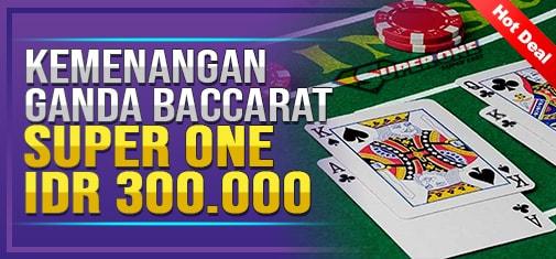 Kemenangan Ganda Baccarat Super One (1)